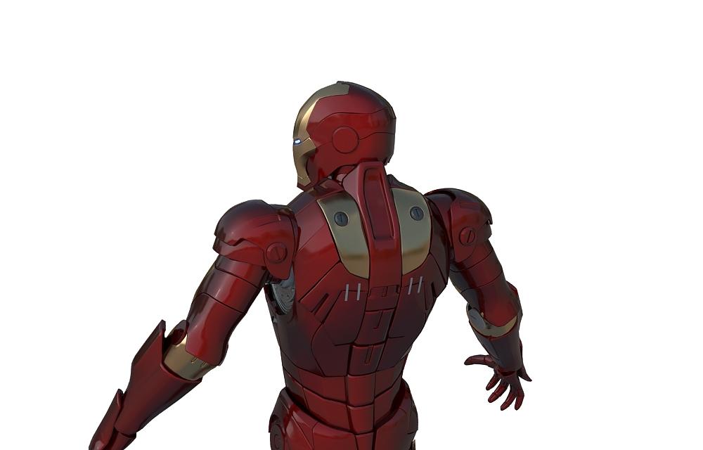 3d модель железного человека
