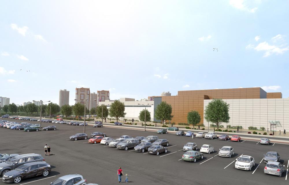 3d визуализация торгового центра в Москве