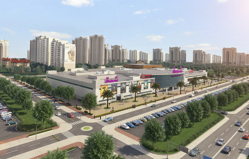 3d визуализация торгового центра