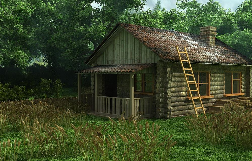 3D визуализация экстерьера старого дома