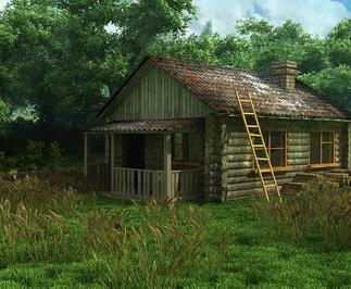 Экстерьер старого дома