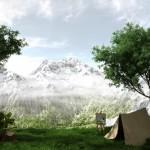 3d визуализация горного ландшафта