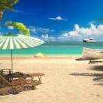 3d визуализация пляжа