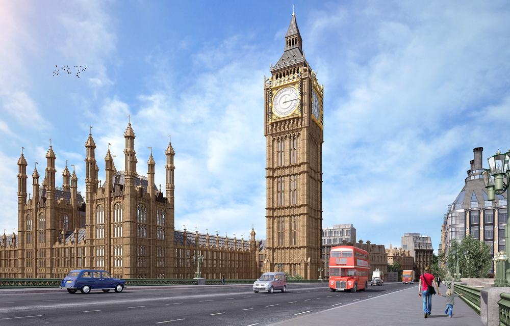 3Д моделирование и визуализация Вестминстерского дворца