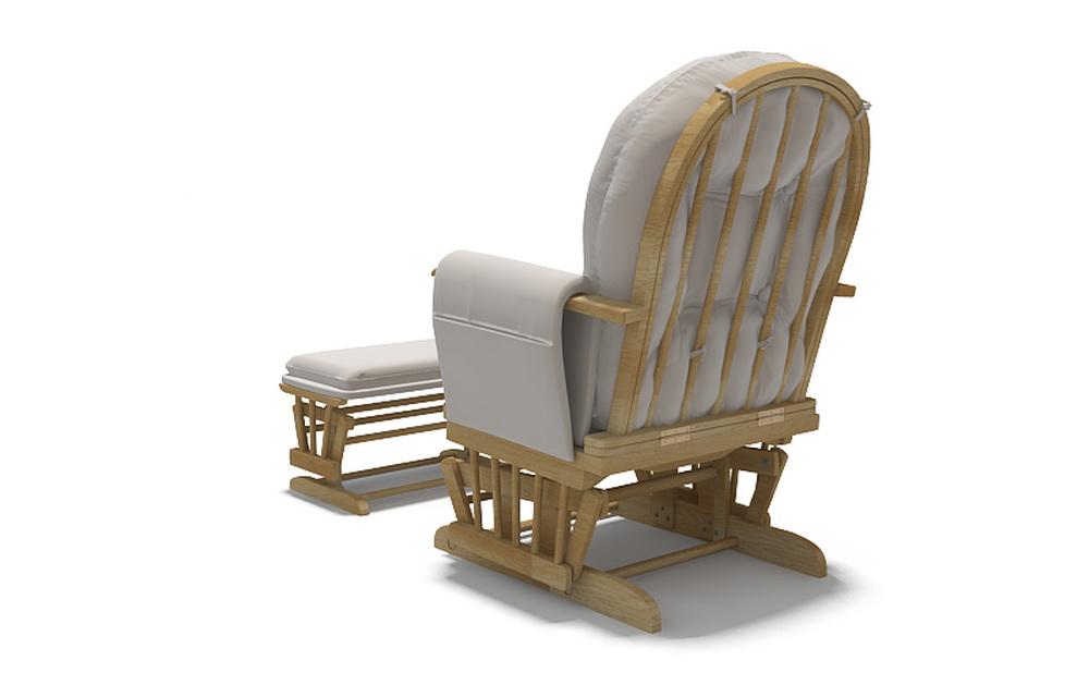 3d модель кресла для кормления грудью вид сзади