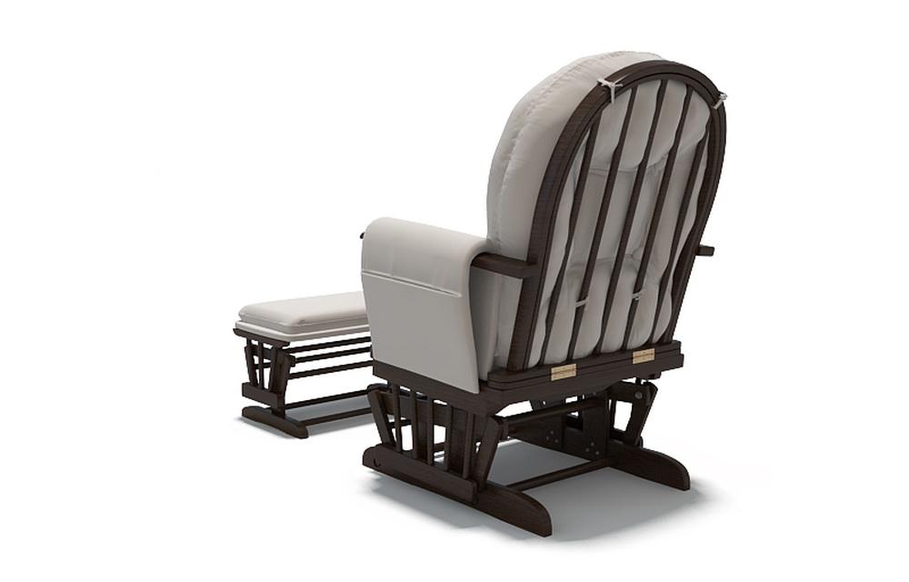 3d модель кресла-качалки для отдыха и кормления детей, задний ракурс