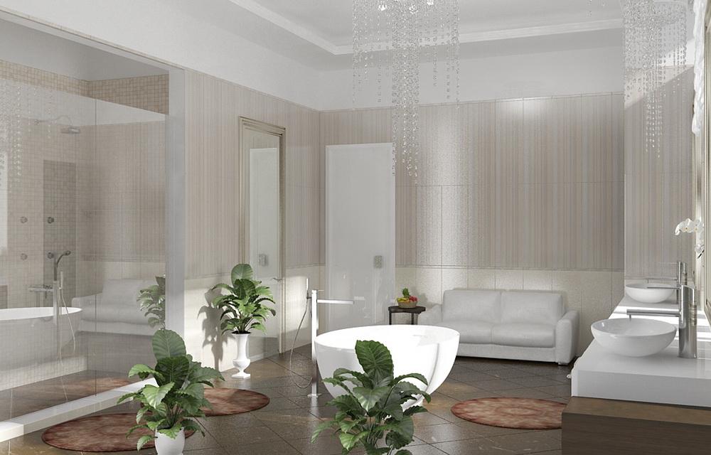ванная комната с элитной сантехникой