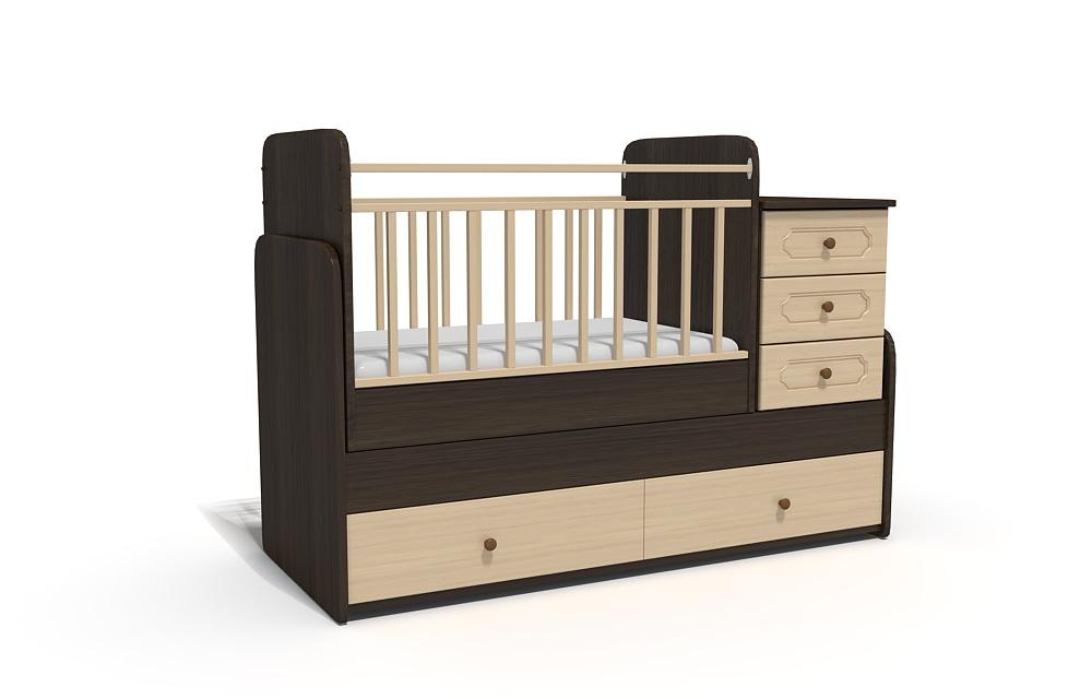 3d модель детских кроваток