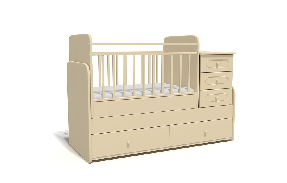 3d визуализация детской кроватки