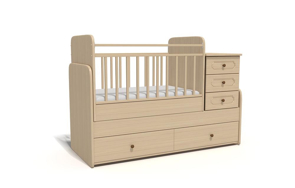 3д визуализация кроватки