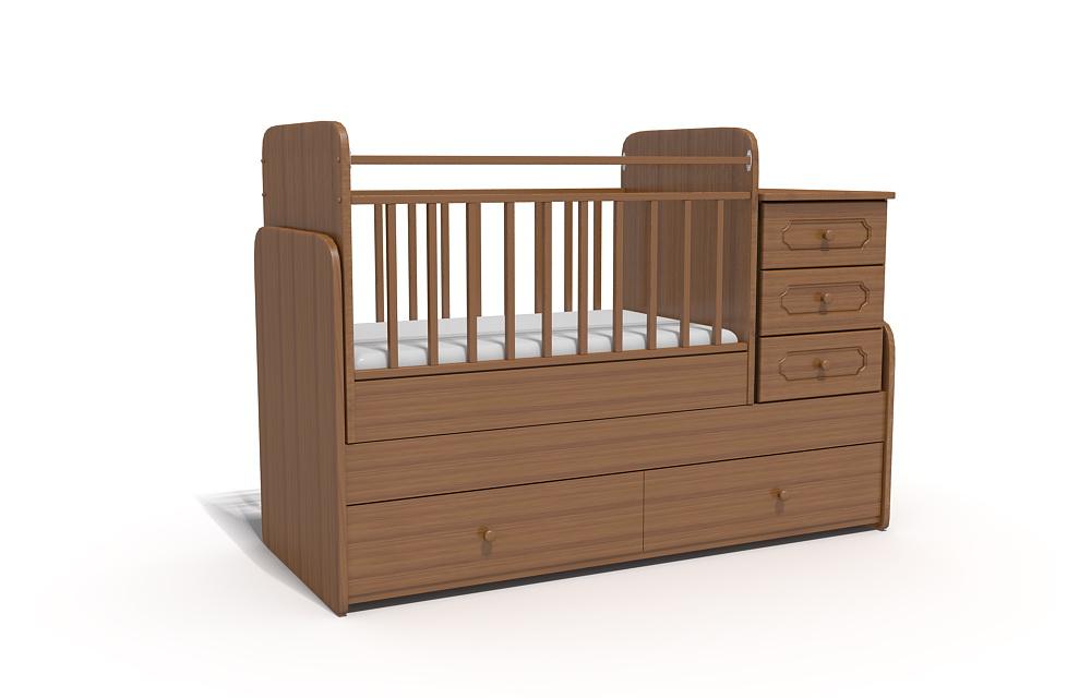 детская кроватка в разных расцветках