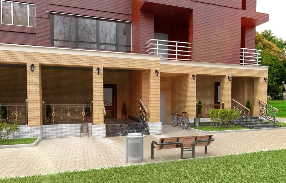 3d визуализация экстерьера здания