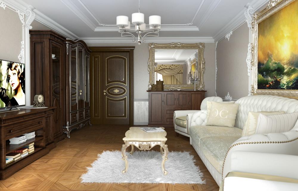 визуализация двухкомнатной квартиры
