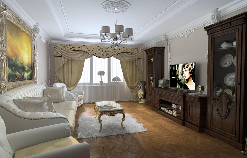 визуализация интерьера двухкомнатной квартиры