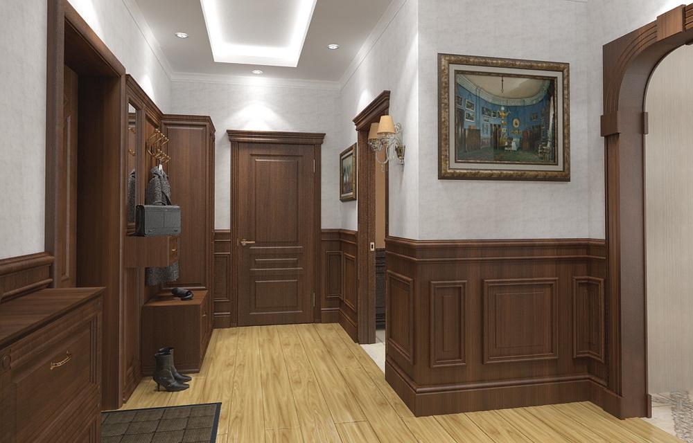визуализация интерьера однокомнатной квартиры
