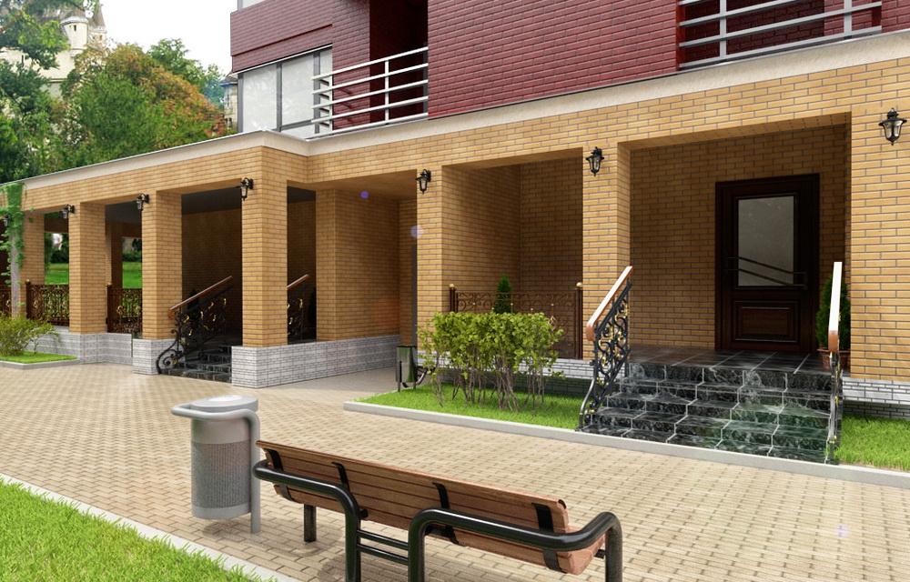 визуализация современного фасада