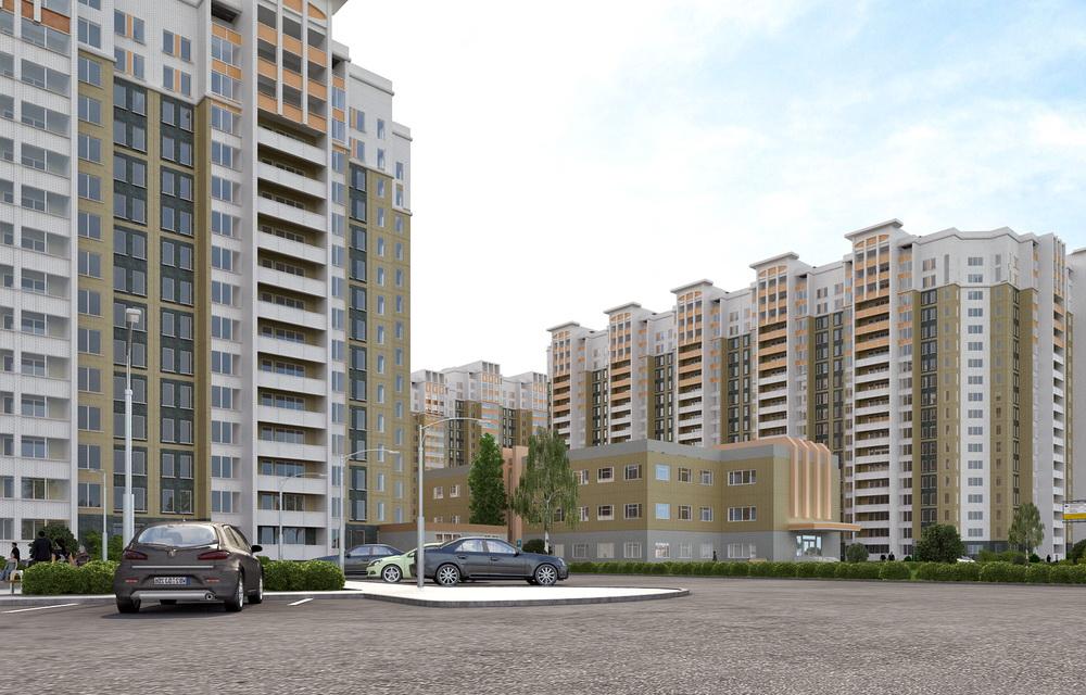 3d моделирование домов микрорайона