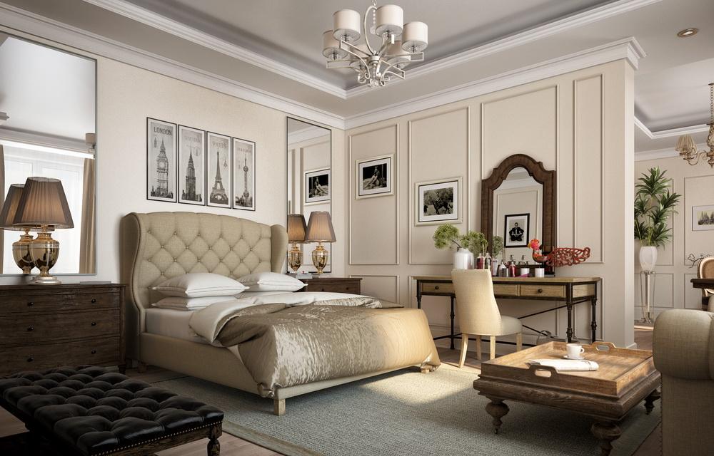 визуализация интерьера гостиницы