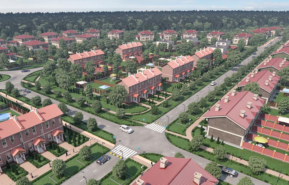 3d визуализация поселка
