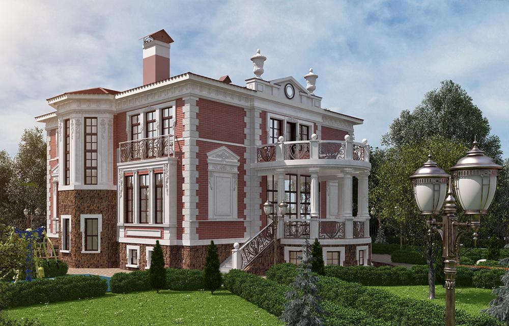 визуализация дома и ландшафта